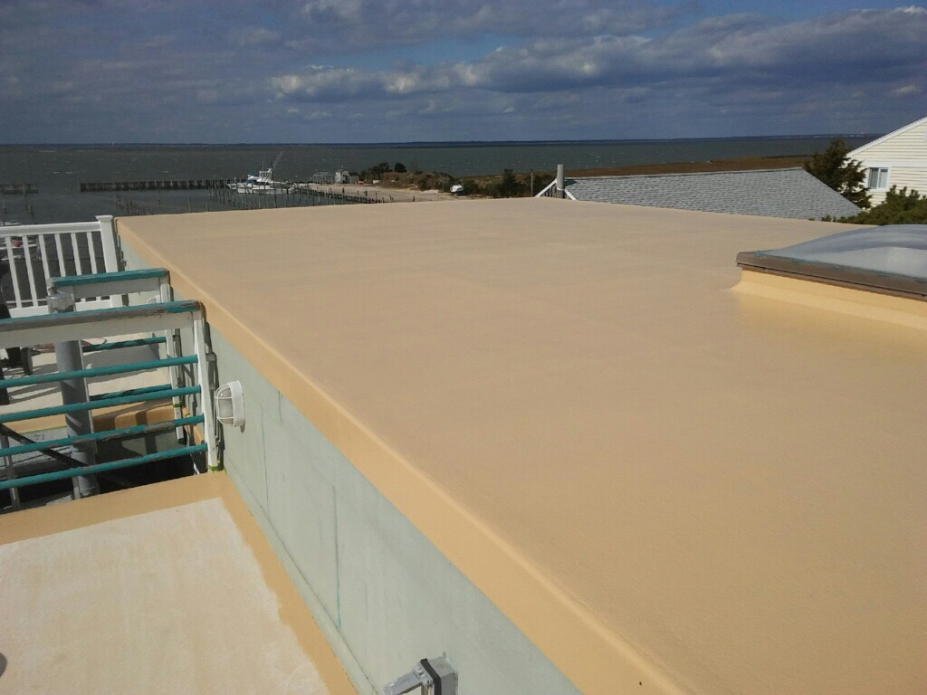 Exceptional This Long Beach Island Rooftop Deck And Upper Flat Roof Was Fiberglassed By  Thomas Clark Fiberglass. We Paid Special Attention To The Skylight Area To  ...